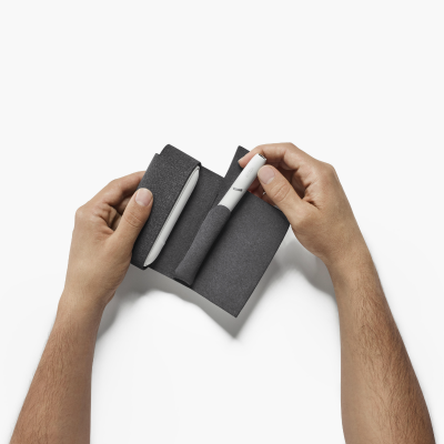 IQOS 3 DUO / 3 Fabric Folio Small Grey, Grey, large